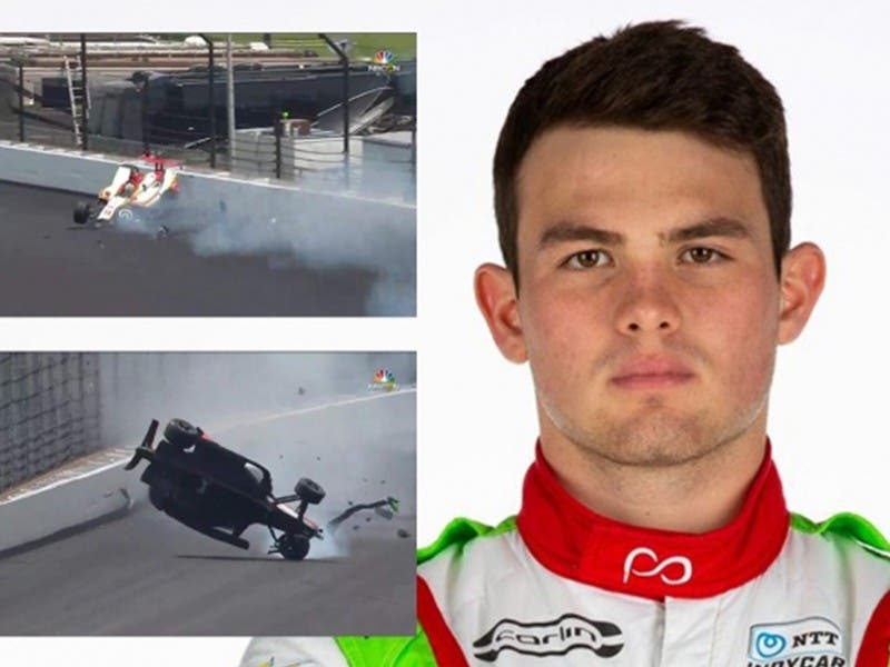 El aparatoso accidente del mexicano Patricio O'Ward en la Indy 500
