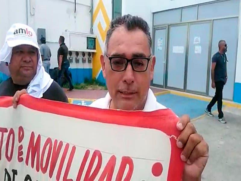 Taxistas de Chetumal se manifiestan en el Instituto de Movilidad