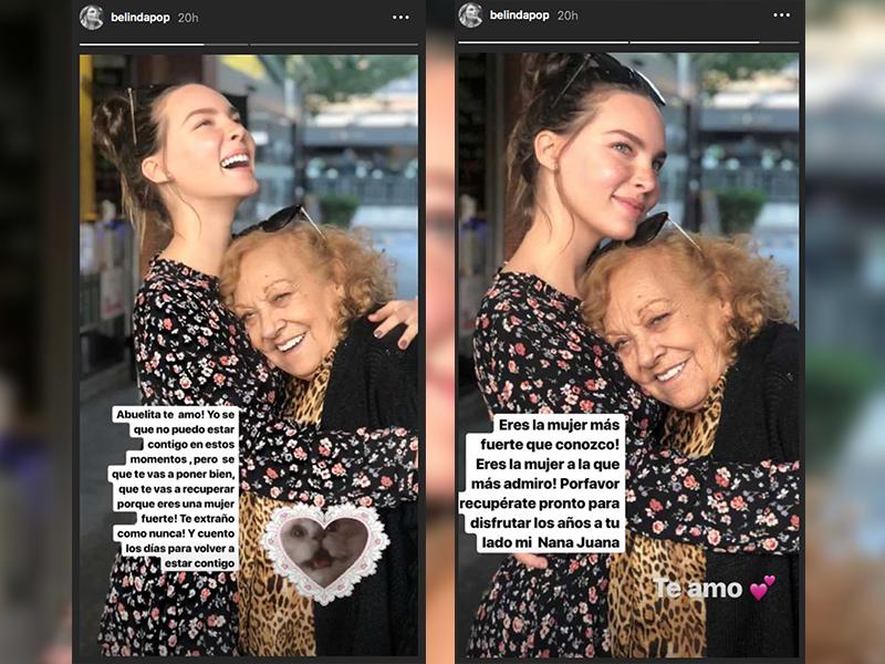 Belinda envía tierno mensaje a su abuelita