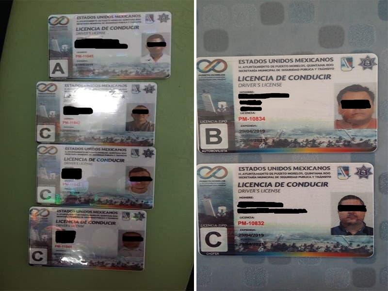 """Detectan en Puerto Morelos licencias de manejo """"clonadas"""""""