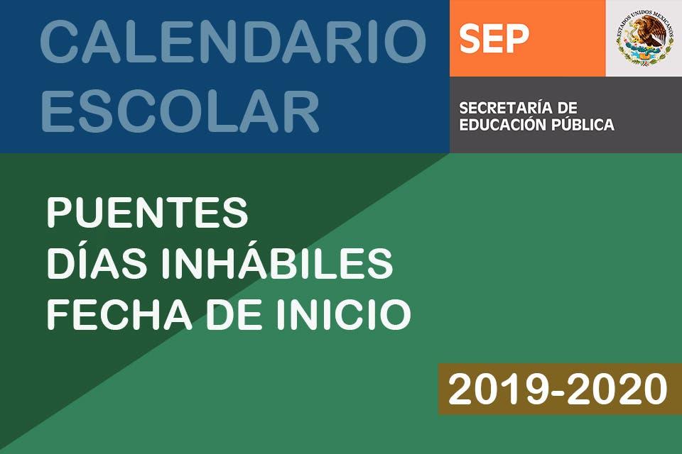 Calendario Escolar 2020 Sep Cdmx.Puentes Del Ciclo Escolar 2019 2020 Sep