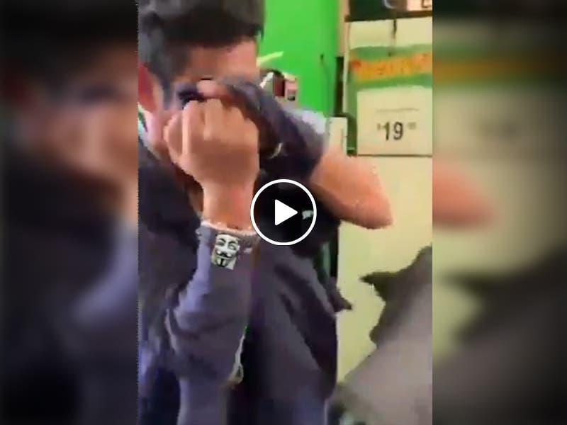 VÍDEO Ladrón es detenido y pide perdón entre lágrimas