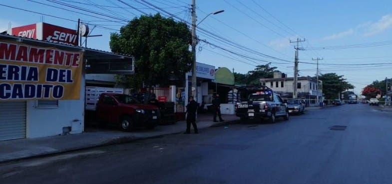 El lugar de los hechos, ubicado sobre la avenida Talleres de la Región 100.