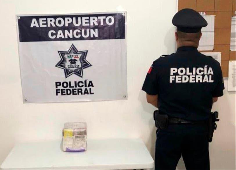 Aseguran 1 kilo de marihuana en una empresa de paquetería de Cancún