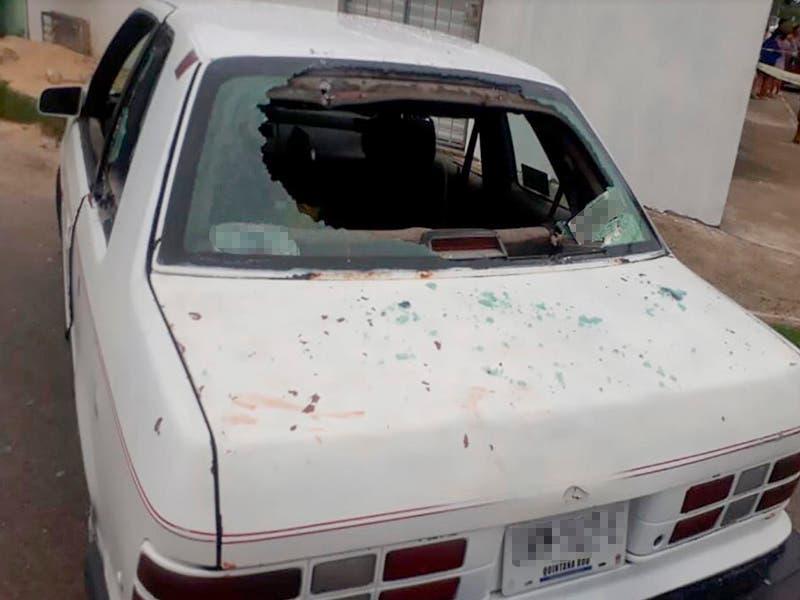 Atacan a balazos a un vehículo con pasajeros en Rancho Viejo