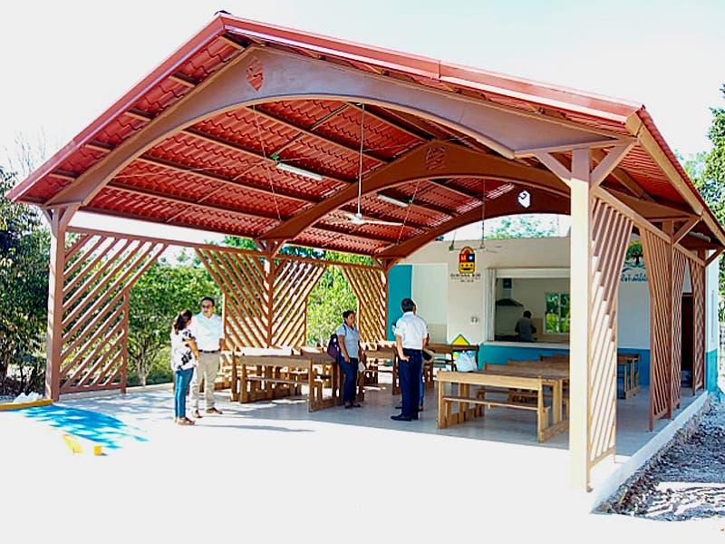 10 comedores para escuelas de la Zona Maya y el sur de Quintana Roo
