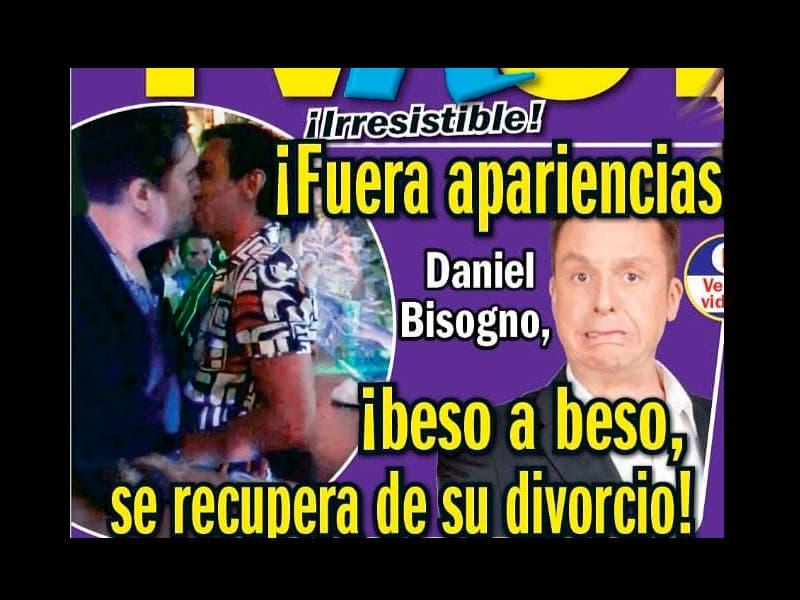 Cachan a Daniel Bisogno comiéndose a besos a un ¡hombre!