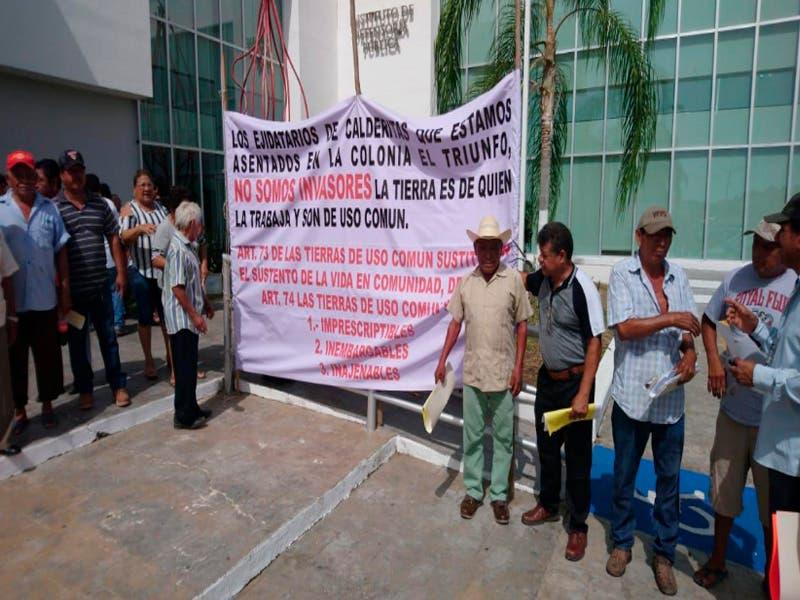 Ejidatarios de Calderitas denuncian a presunto defraudador