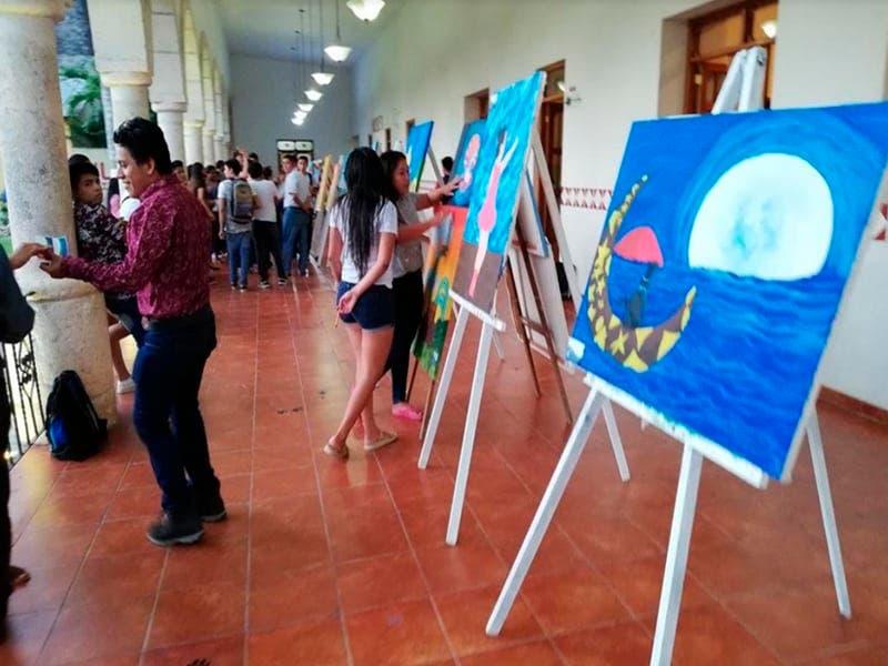Promueven exposición de pintura en Felipe Carrillo Puerto