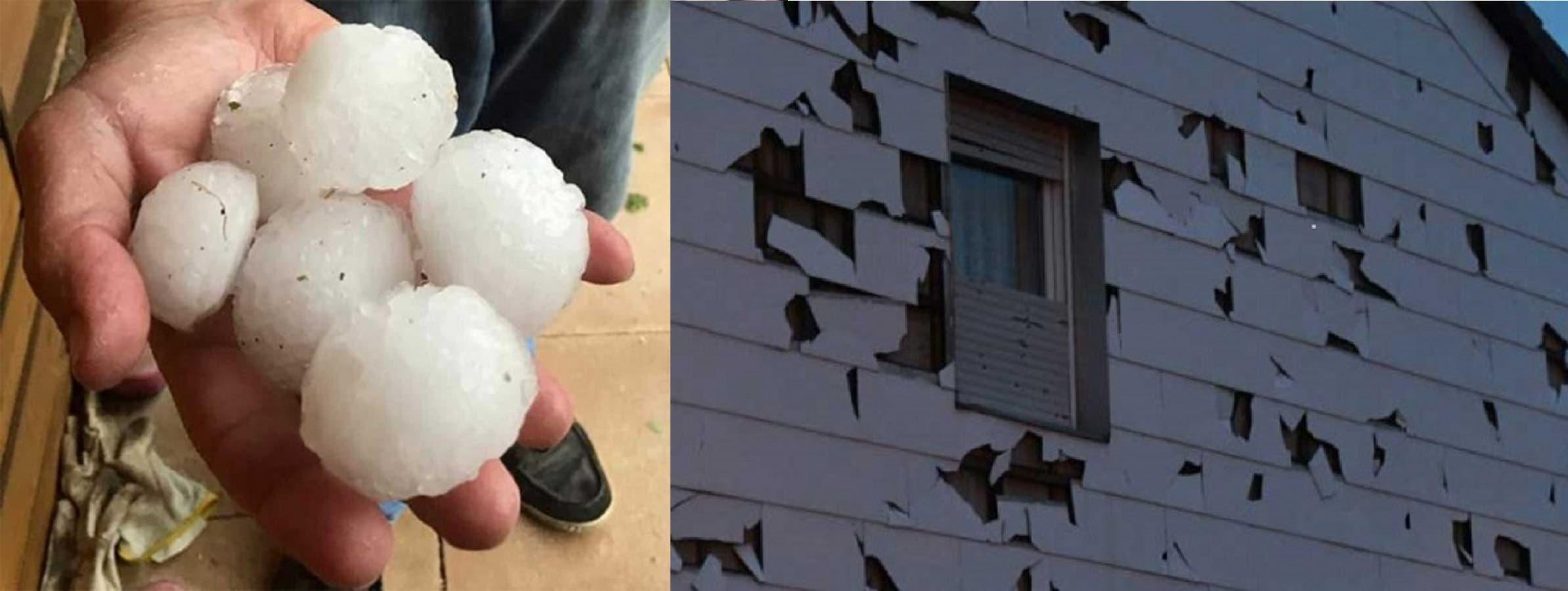 Videos: 'Pelotas' de granizo llueven en Alemania