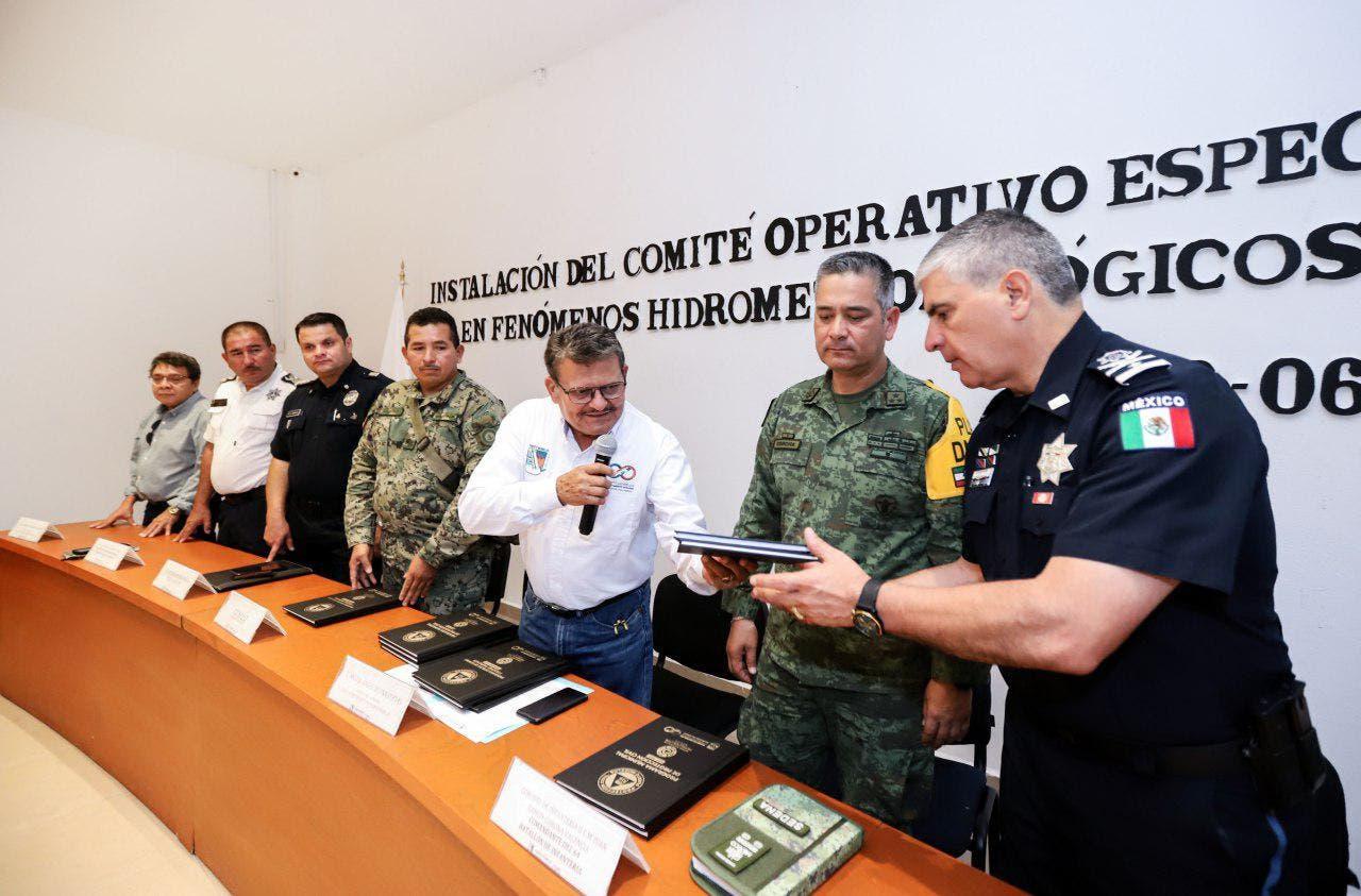 El gobierno de Puerto Morelos instaló esta mañana el Comité Operativo Especializado en Fenómenos Hidrometeorológicos, temporada 2019