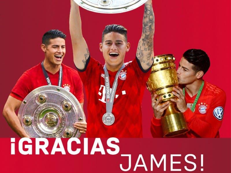 James Rodríguez se despide del Bayern Múnich