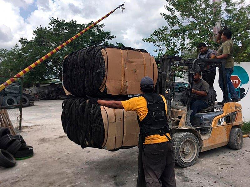 Retiran de Cozumel más de 150 toneladas de llantas