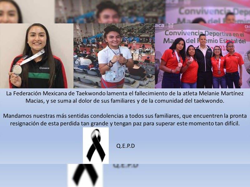 Melanie Martínez, taekwondoín mexicana fallecida a causa de cáncer