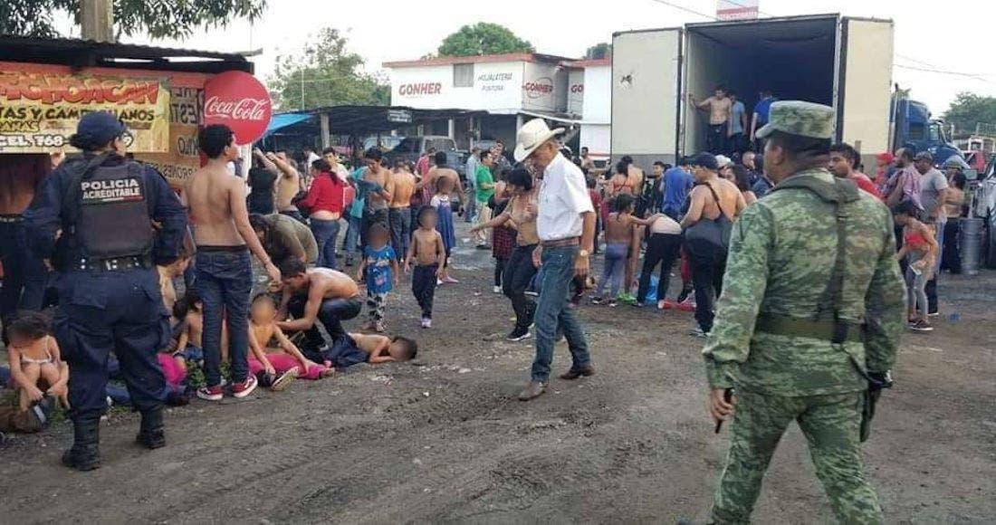 Rescatan a 134 migrantes en Veracruz, a punto de la asfixia