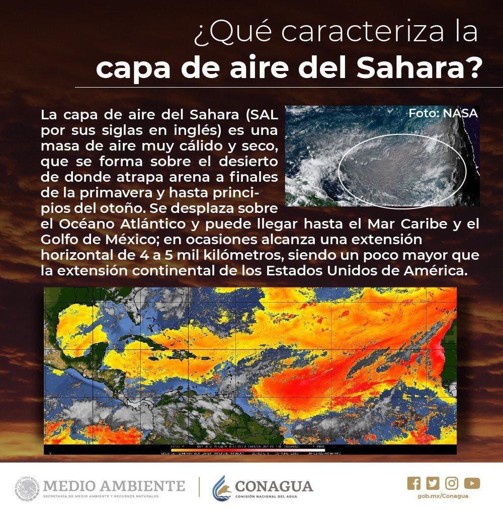 Polvo del Sahara llega a la Península de Yucatán