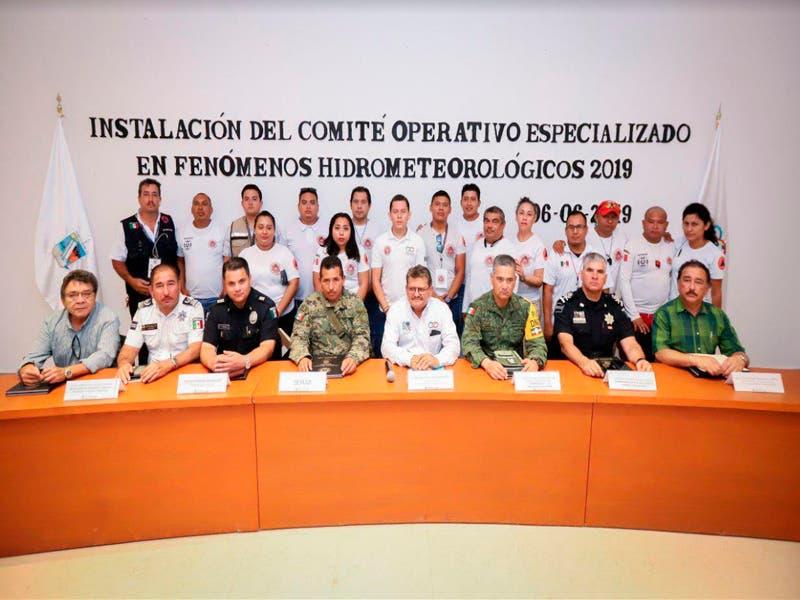 Instala gobierno de Puerto MorelosComité Operativo Especializado en Fenómenos Hidrometeorológicos 2019