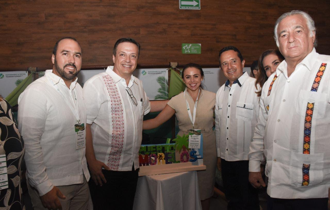 La presidenta municipal Laura Fernández Piña destacó la participación de Puerto Morelos en la Cumbre de Turismo Sustentable y Social