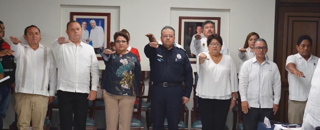 Autoridades del Comité ante la temporada de huracanes 2019