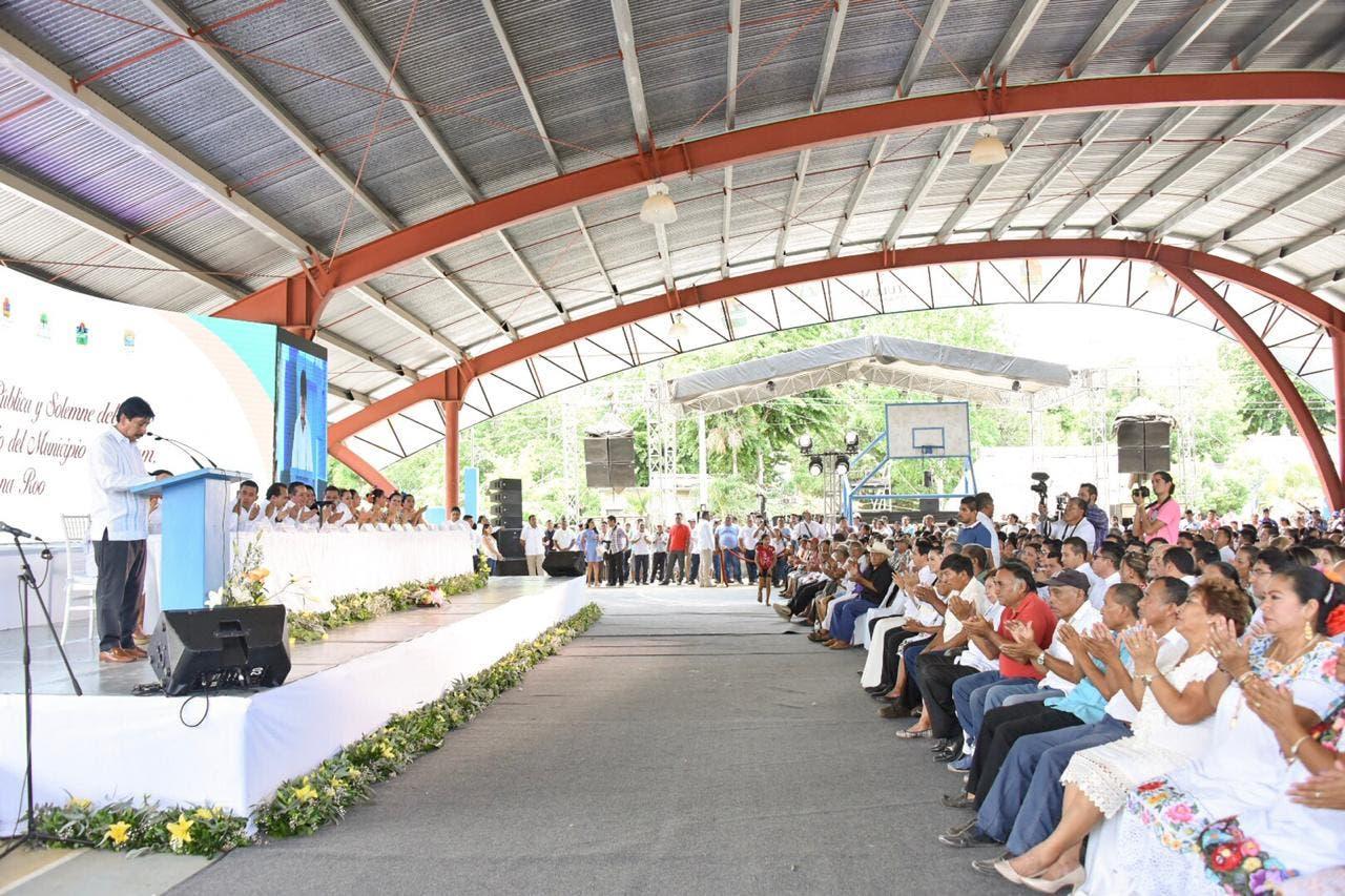 La ceremonia se realizó en la comunidad de Chanchén 1.