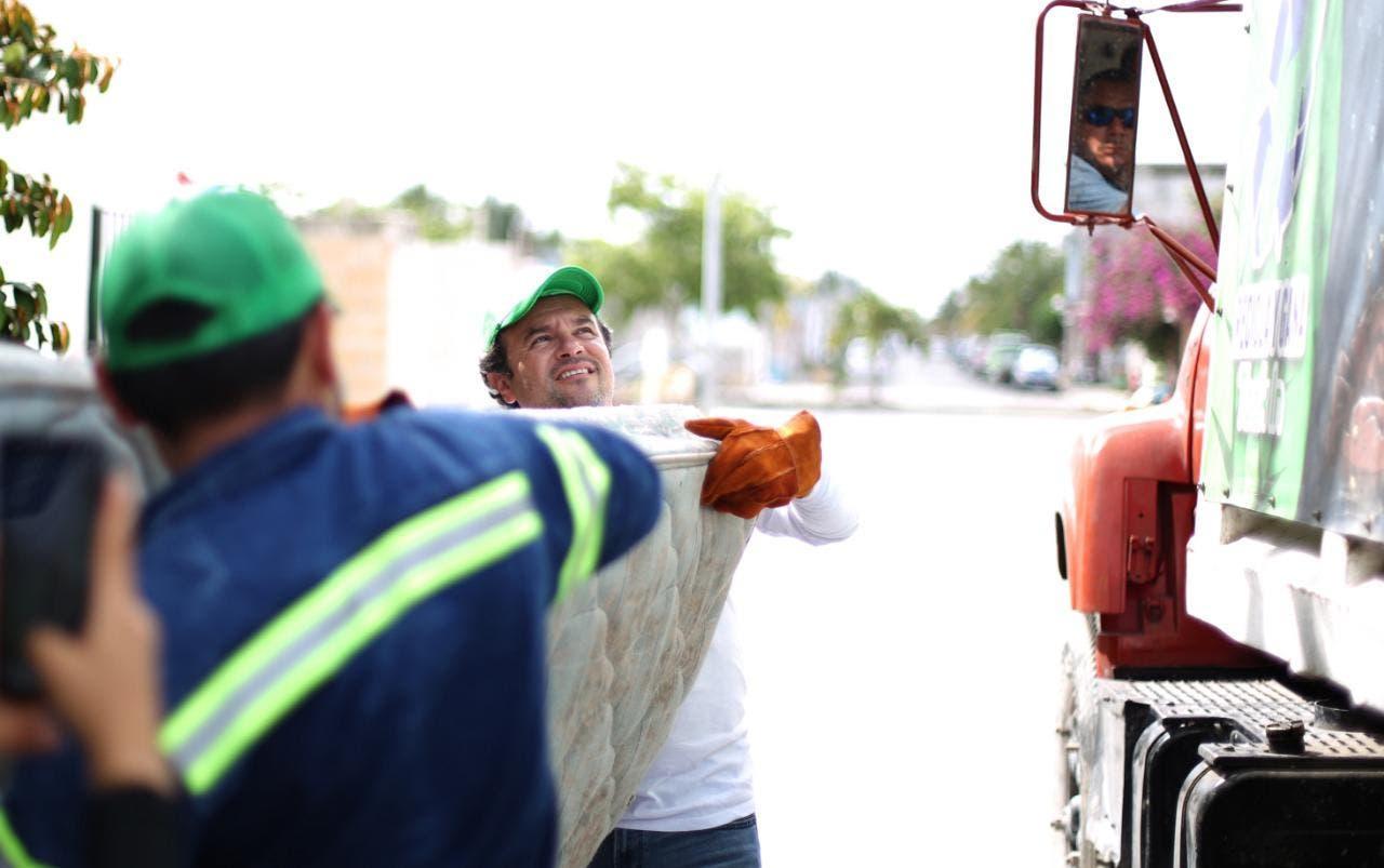 En menos de tres semanas, la Campaña Masiva de Descacharrización superó las expectativas en Cozumel: Pedro Joaquín