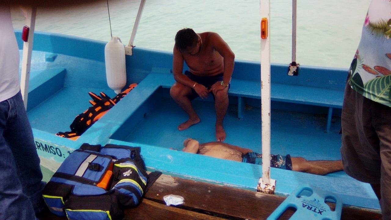 Muere un turista en el Canal de los Piratas de Bacalar.