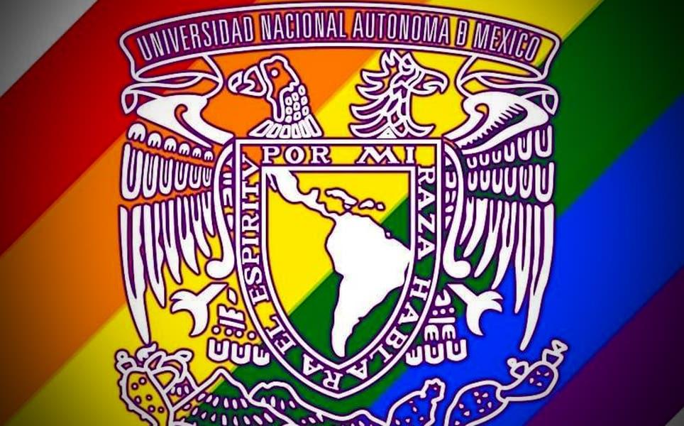 UNAM pinta su escudo y muestra su apoyo a la comunidad LGTB