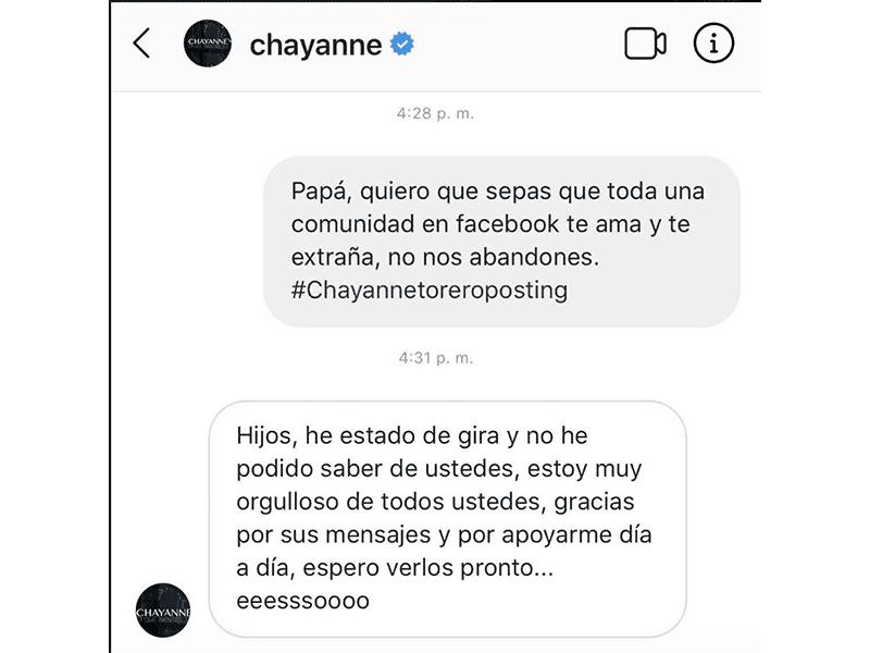 """Chayanne responde a las felicitaciones de sus """"hijos"""""""