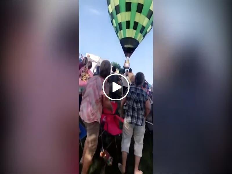 VÍDEO: Globo aerostático NO se eleva y choca contra las personas