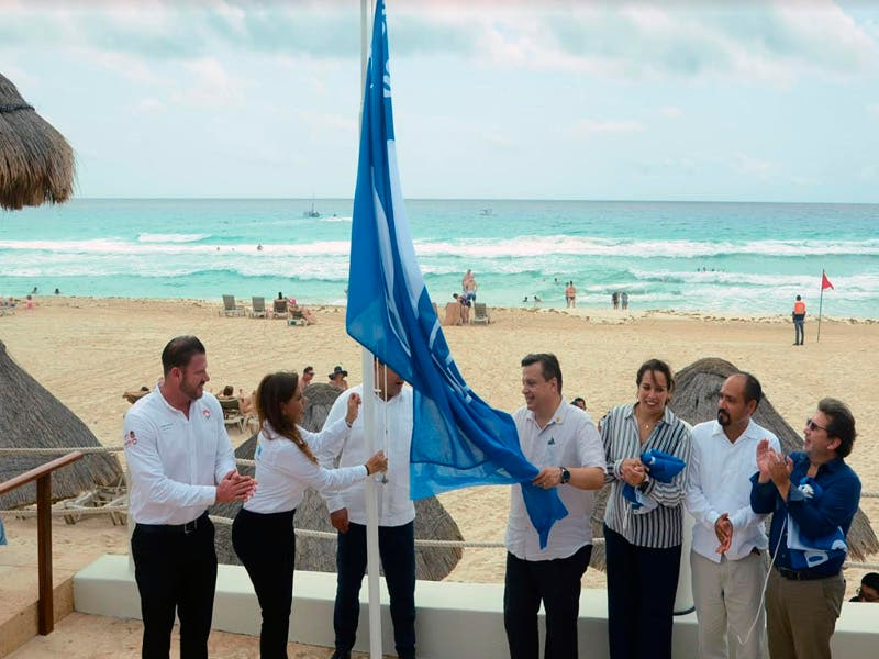 Izan bandera Blue Flag en Cancún