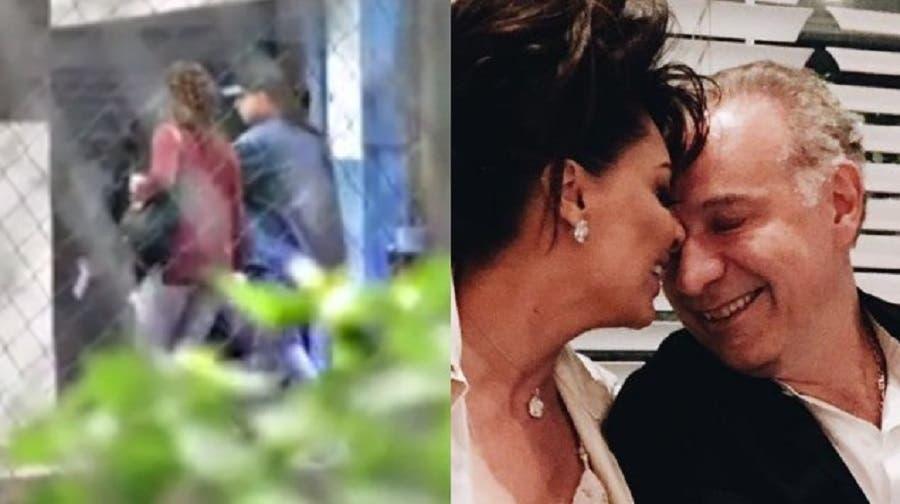 La mujer del abogado, Yadira Carrillo, visita a su marido en el Reno.