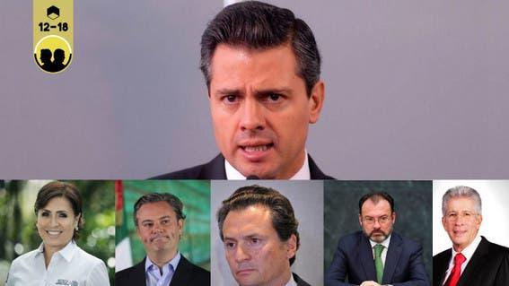 Los rostros de la corrupción en el Gobierno de Enrique Peña Nieto.
