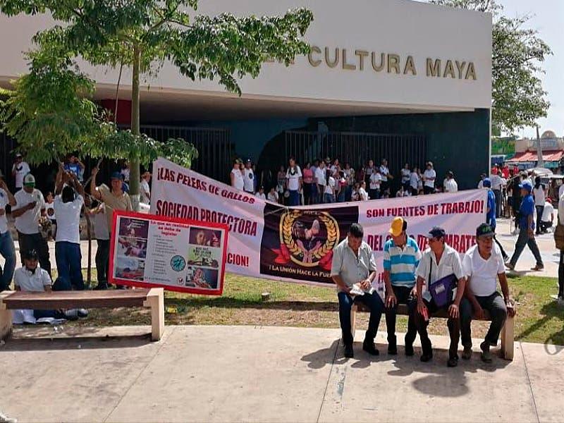 Galleros se manifiestan contra Ley de Protección y Bienestar Animal