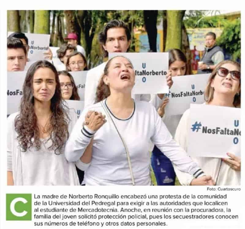 Pese a la detención de los asesinos del joven Norberto, difícilmente traerá paz a los familiares y amigos del estudiante asesinado.