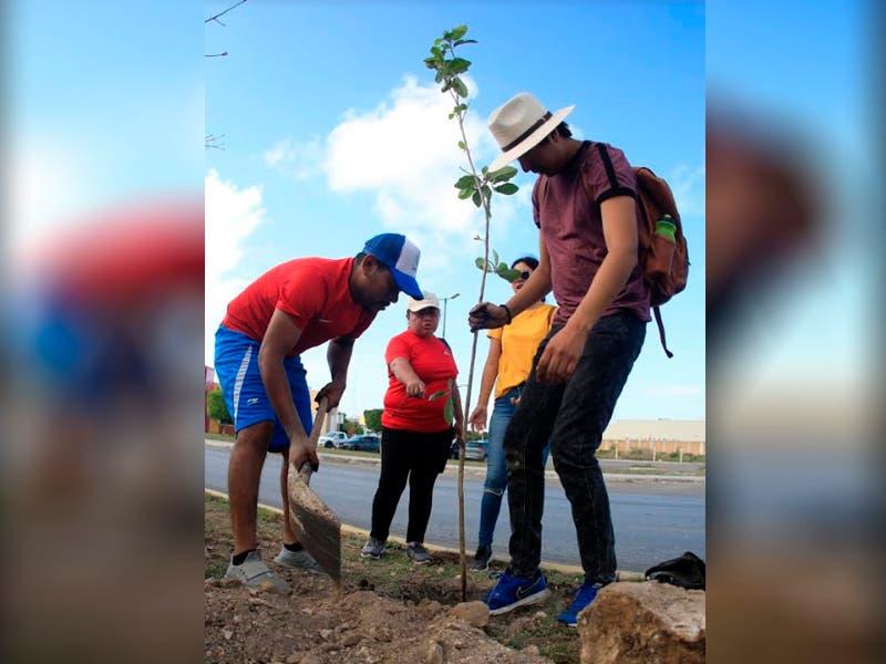 Instituto de la Juventud planta 130 árboles