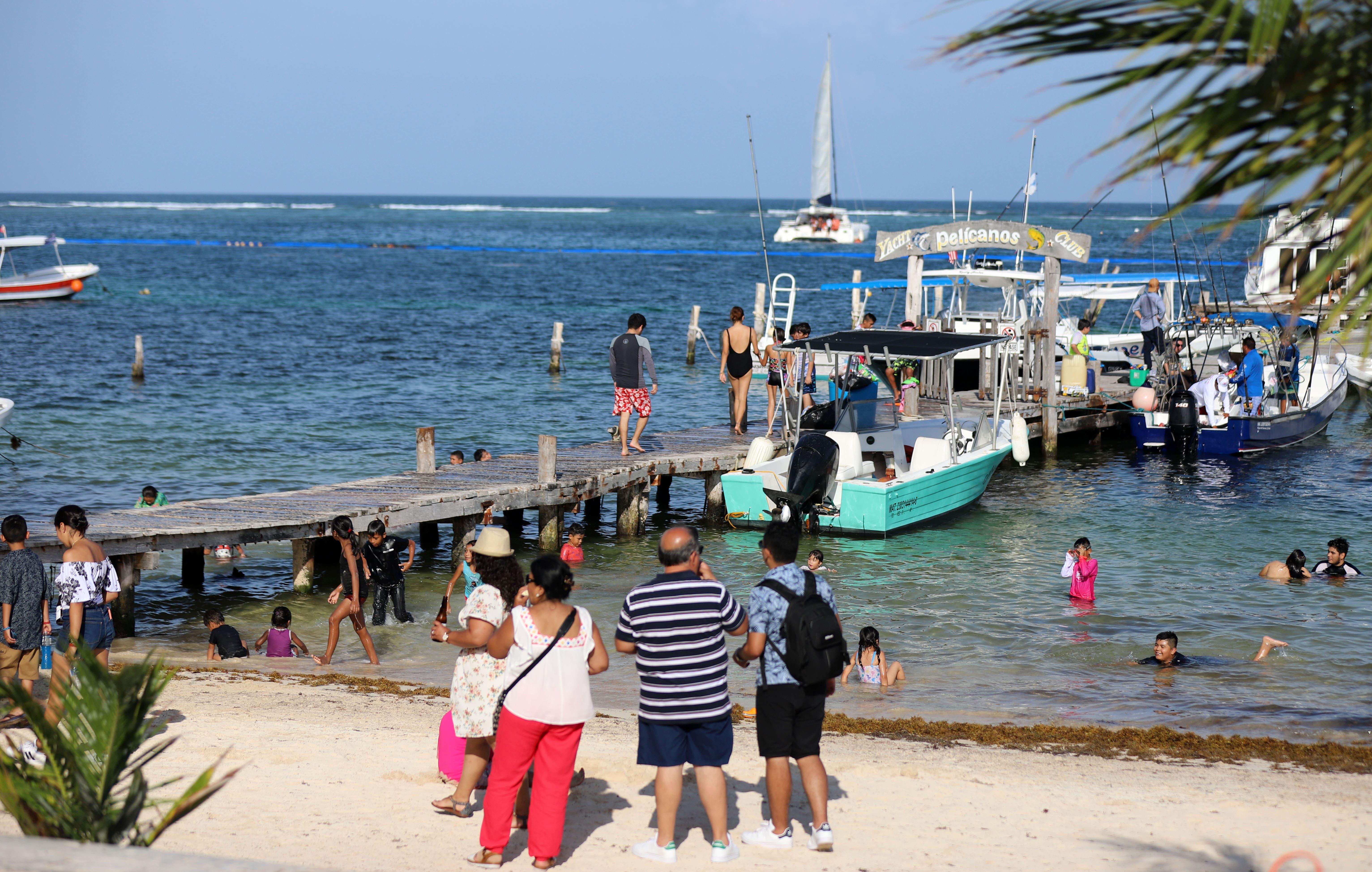 El buen clima y la inmejorable condición de las playas se conjuntaron para que se registrara una gran afluencia de visitantes