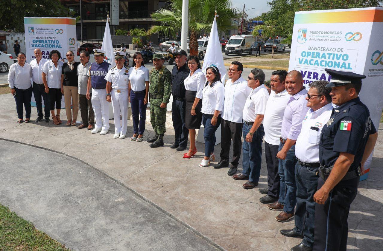La alcaldesa de Puerto Morelos da el banderazo de inicio de esta estrategia de seguridad en la que participan instancias de los tres órdenes de gobierno