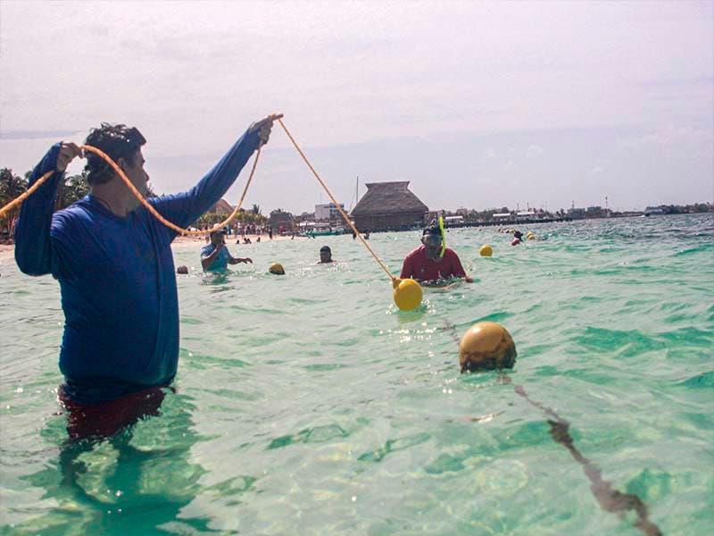 Aumentan seguridad en playas de Isla Mujeres