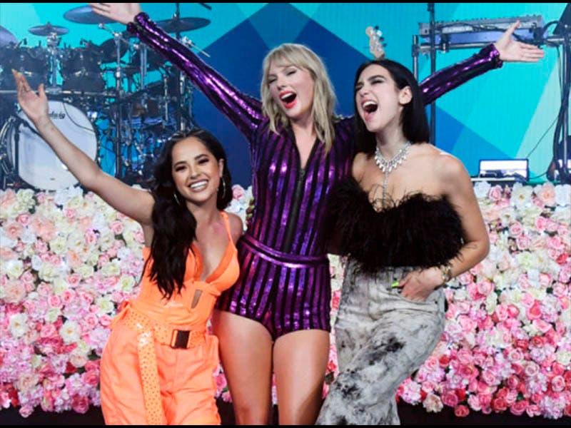 Taylor Swift, Becky G, Dua Lipa y su concierto para Prime Video