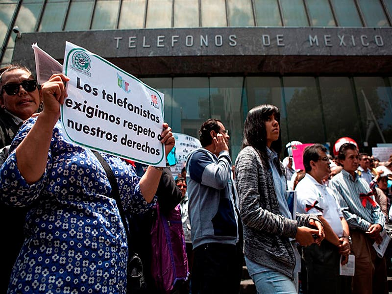 Emplazamiento de huelga por telefonistas de México