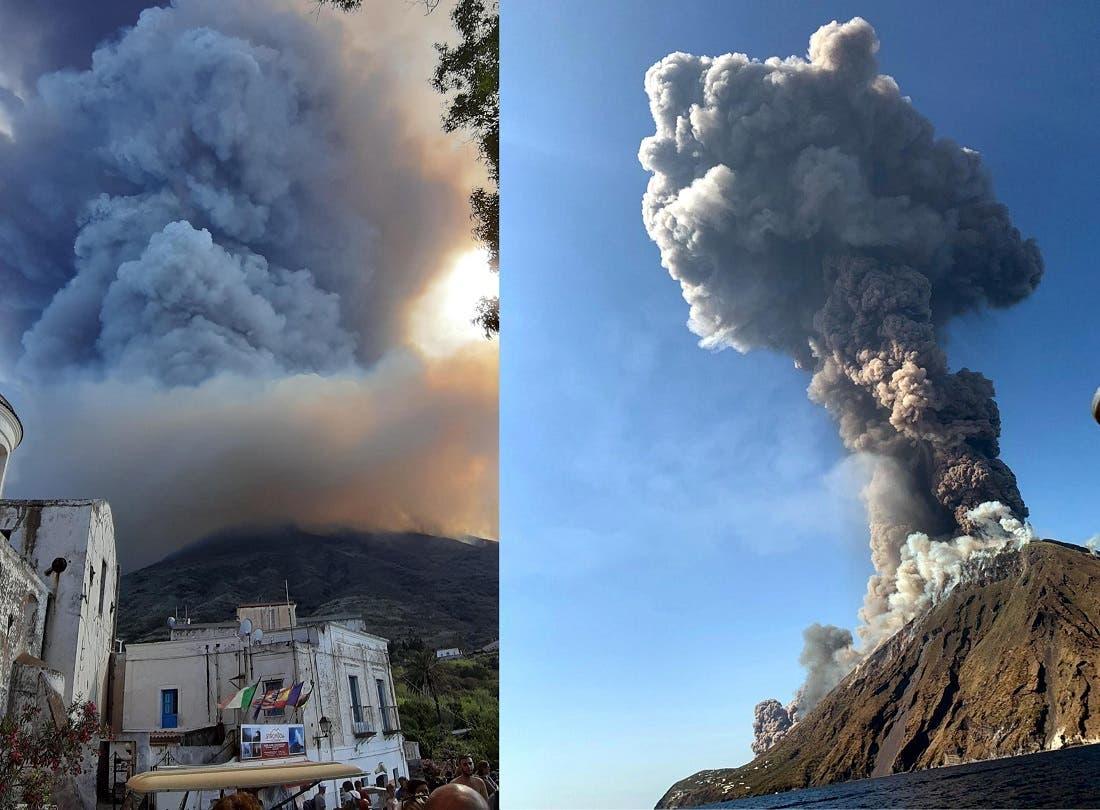 Explota volcán Estrómboli en Italia; un muerto y un herido