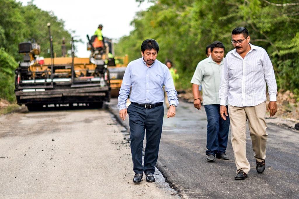 Repavimentan la carretera Cobá-Chanchén 1