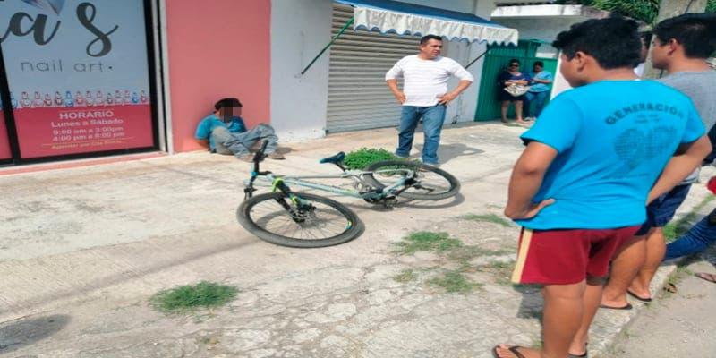 Detienen a presunto ladrón de una bicicleta en Felipe Carrillo Puerto