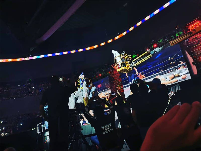 Triplemanía XXVII: Blue Demon Jr. derrota a Dr. Wagner Jr.
