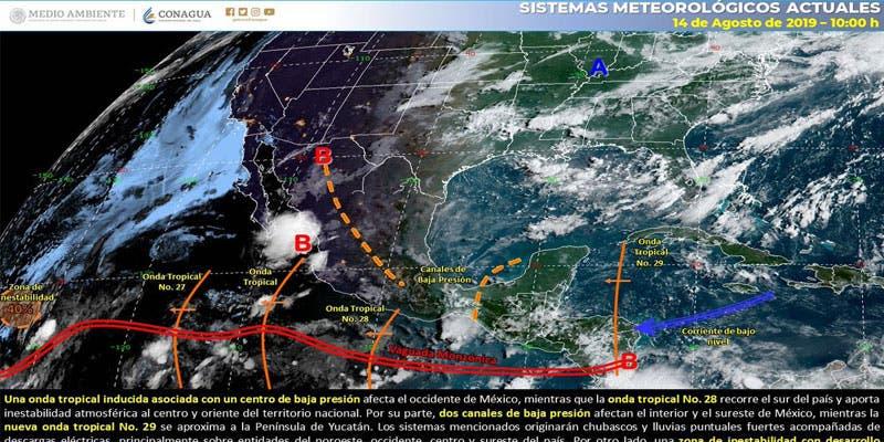Clima: Pronostican chubascos aislados para Quintana Roo.
