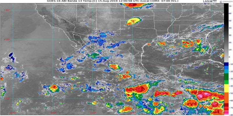 Clima: Pronostican chubascos vespertinos para Quintana Roo; canal de baja presión favorecerá para que se registren altas temperaturas en la Península.