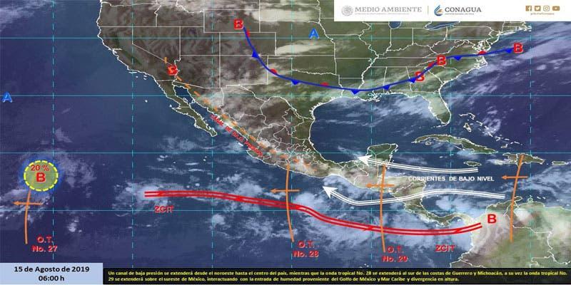 Clima: Pronostican chubascos vespertinos para Quintana Roo.