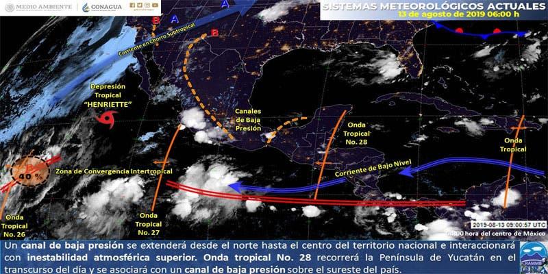 Clima probable para hoy martes en Quintana Roo.