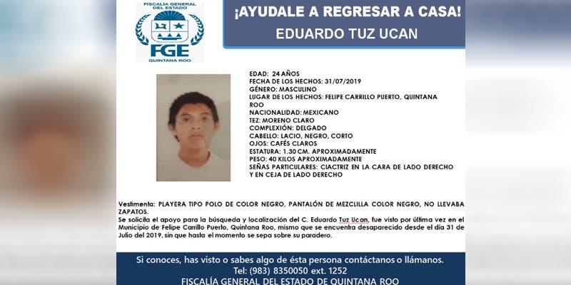Madre de joven desaparecido en Chan Santa Cruz mantiene la esperanza