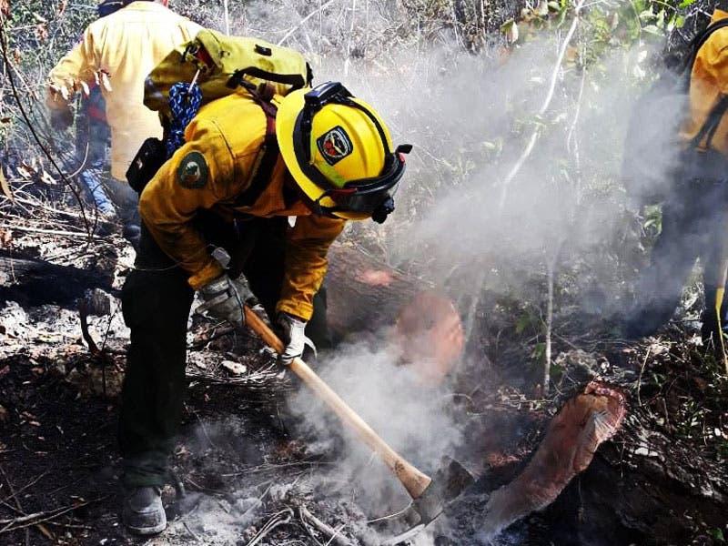 Se tiene cerca de 75% de contención incendio en Sian Ka'an; precipitaciones aisladas fueron insuficientes como para disminuir las llamas que se presentan.